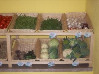 Cavoli e verdura a foglia verde